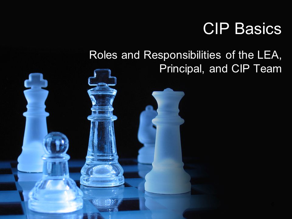 Roles and Responsibilities of the LEA, Principal, and CIP Team