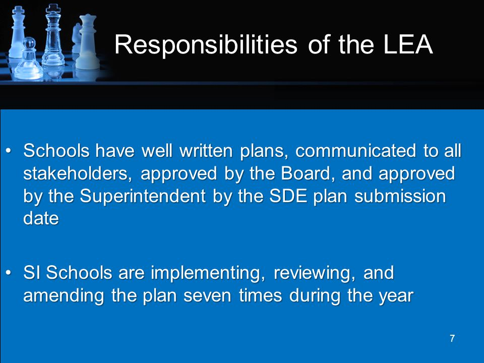 Responsibilities of the LEA