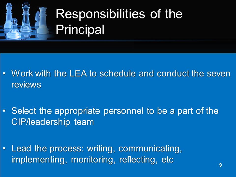 Responsibilities of the Principal