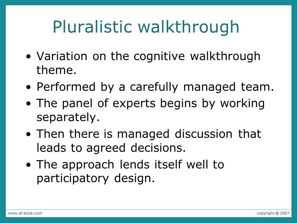 Pluralistic walkthrough