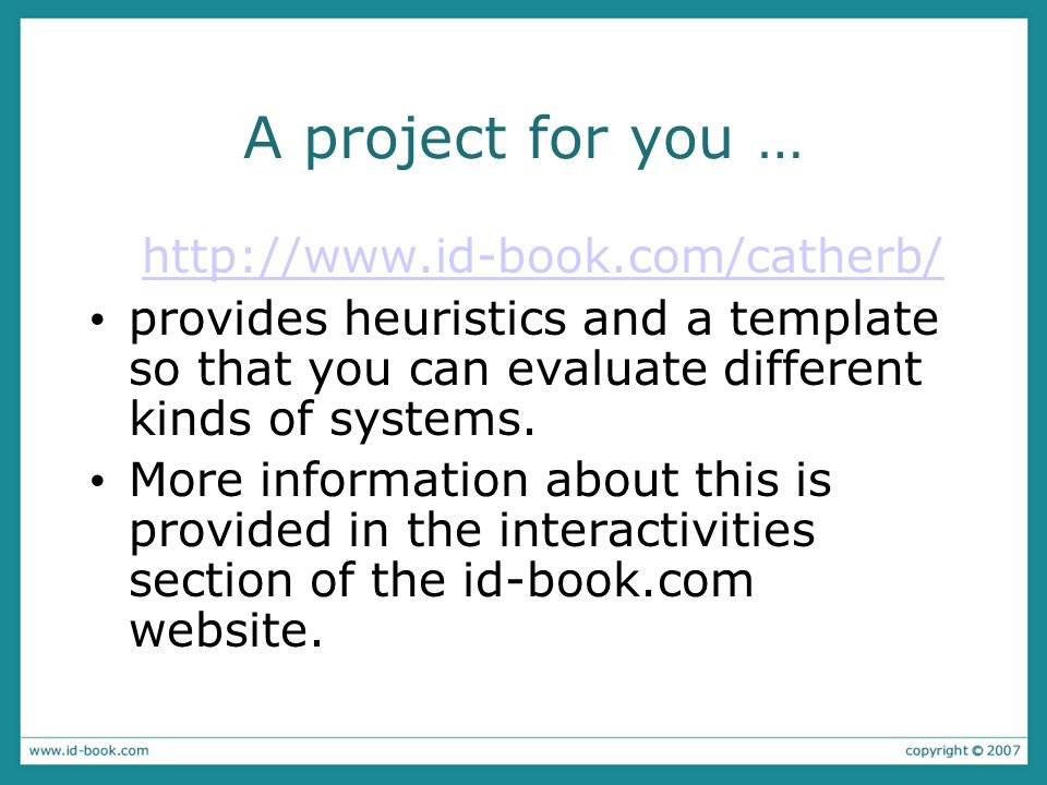 A project for you … http://www.id-book.com/catherb/