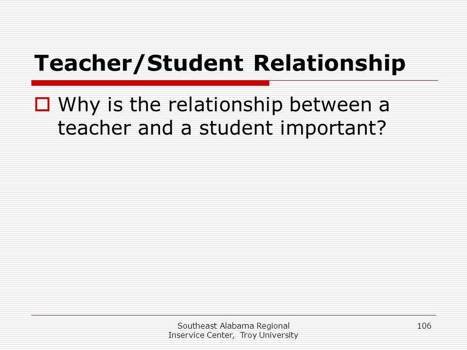 Teacher/Student Relationship