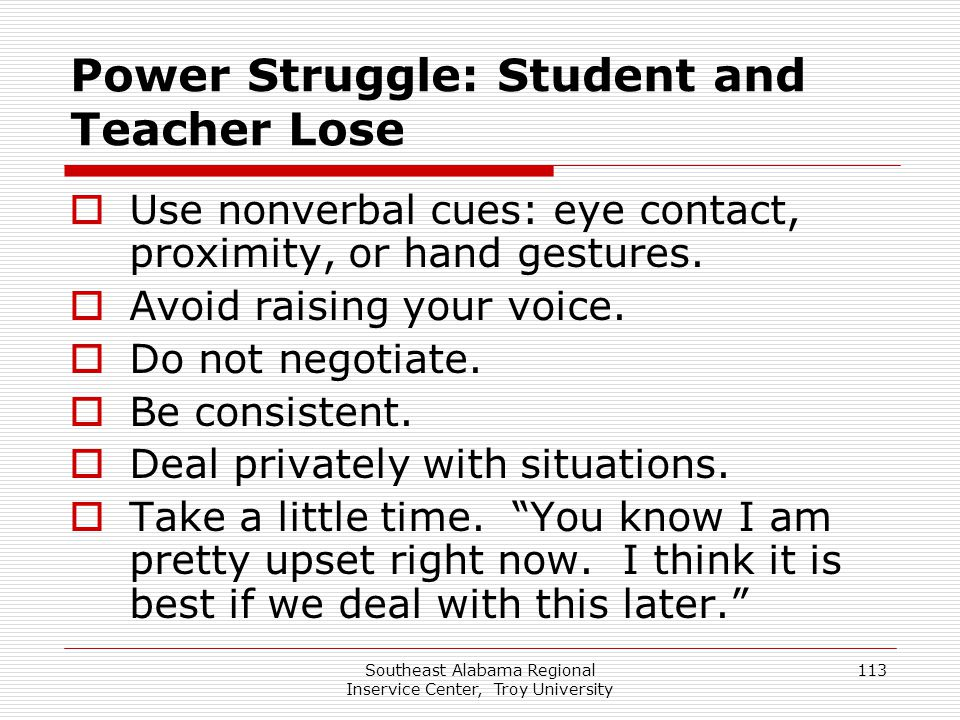 Power Struggle: Student and Teacher Lose