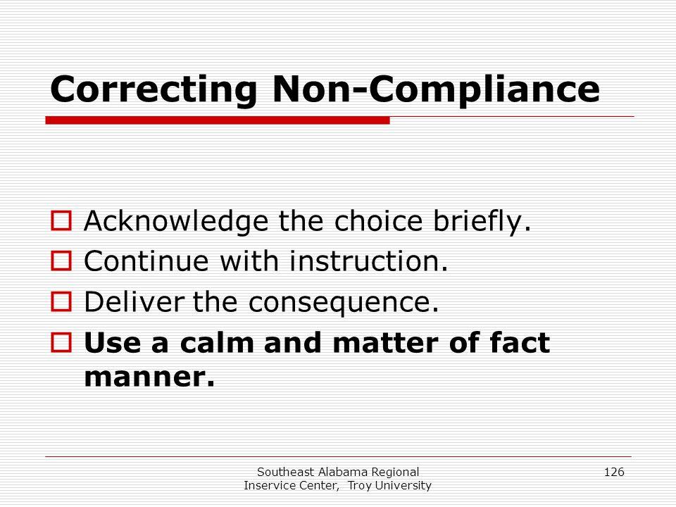 Correcting Non-Compliance