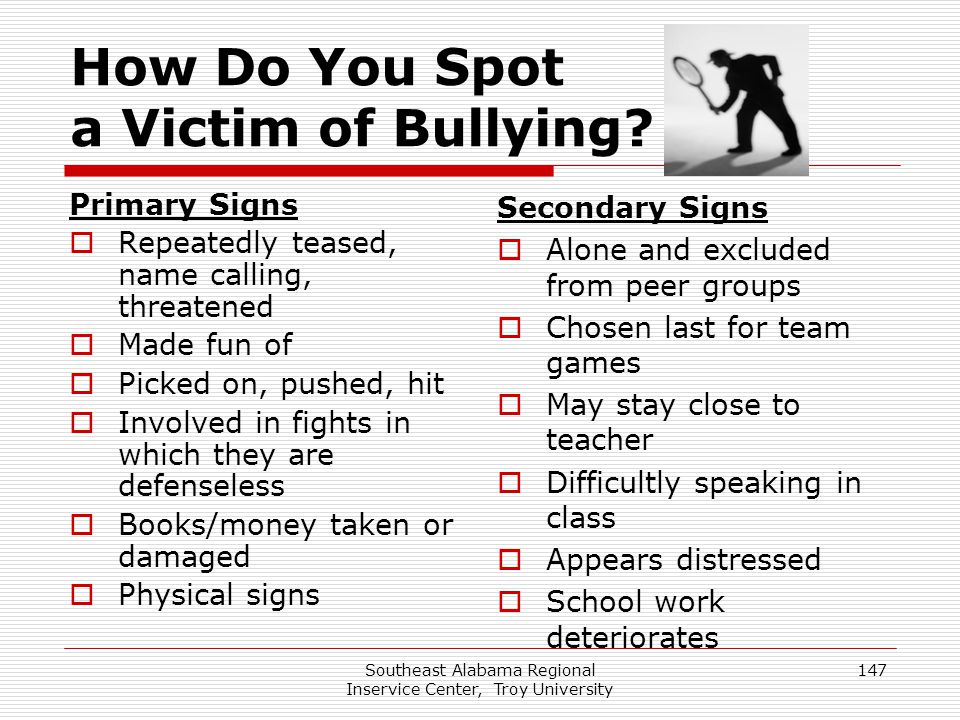 How Do You Spot a Victim of Bullying