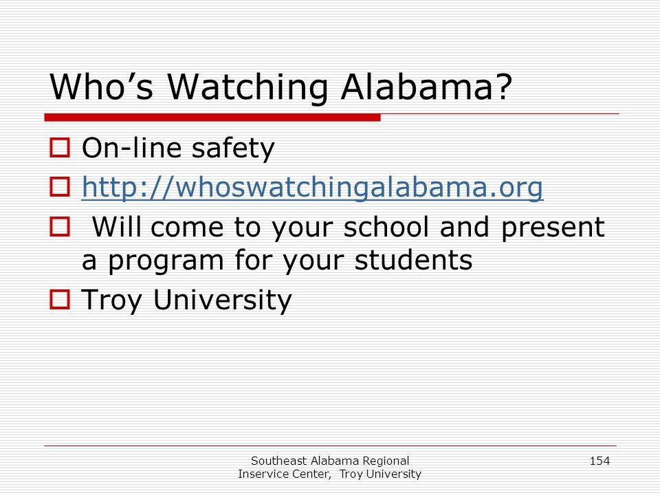 Who's Watching Alabama