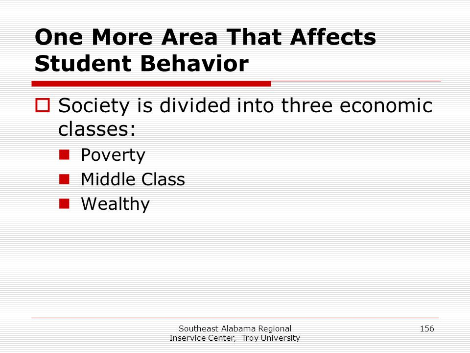 One More Area That Affects Student Behavior