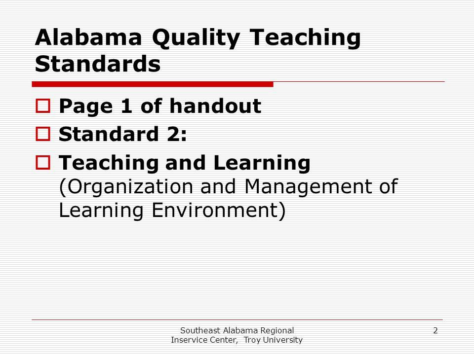 Alabama Quality Teaching Standards