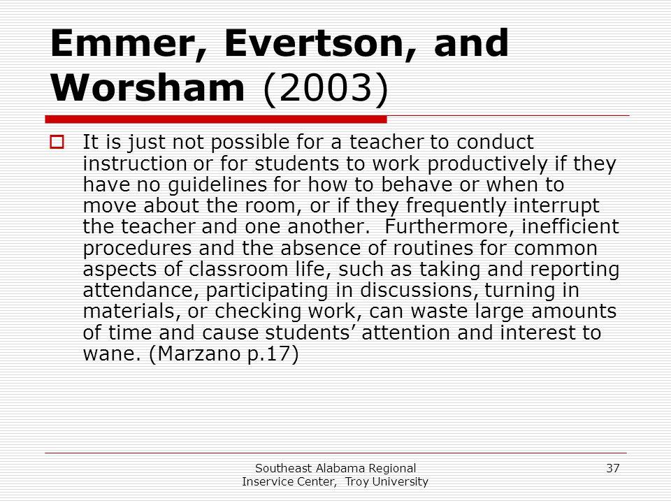 Emmer, Evertson, and Worsham (2003)