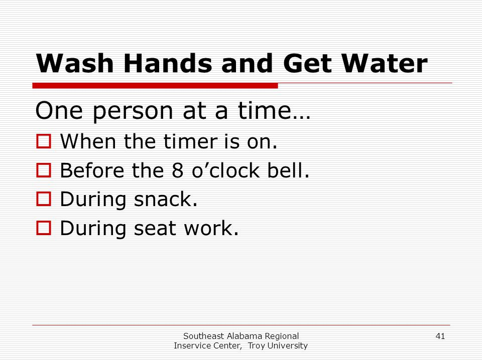 Wash Hands and Get Water