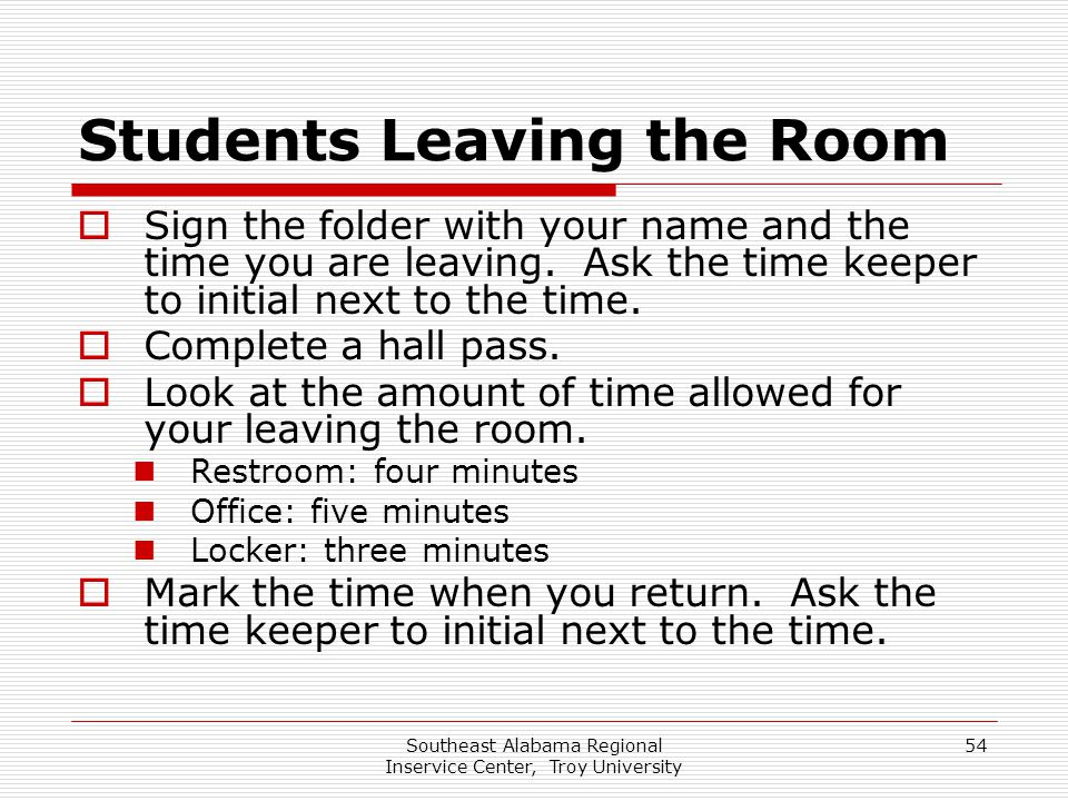Students Leaving the Room