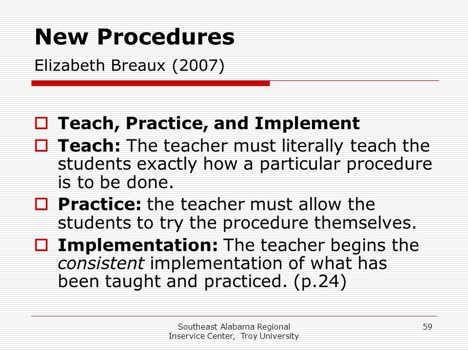 New Procedures Elizabeth Breaux (2007)