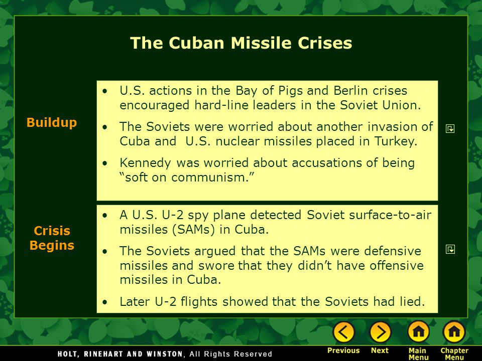 The Cuban Missile Crises