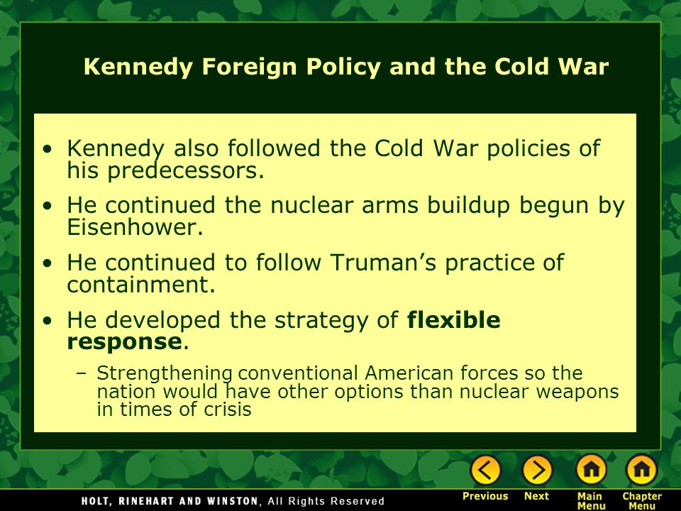 Kennedy Foreign Policy and the Cold War