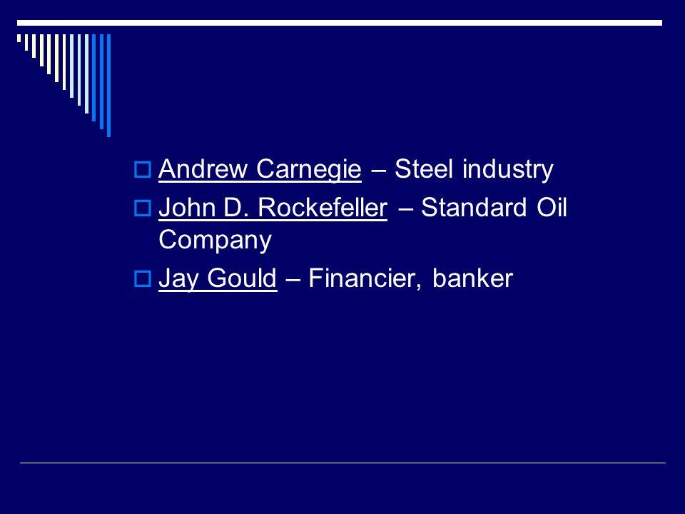 Andrew Carnegie – Steel industry