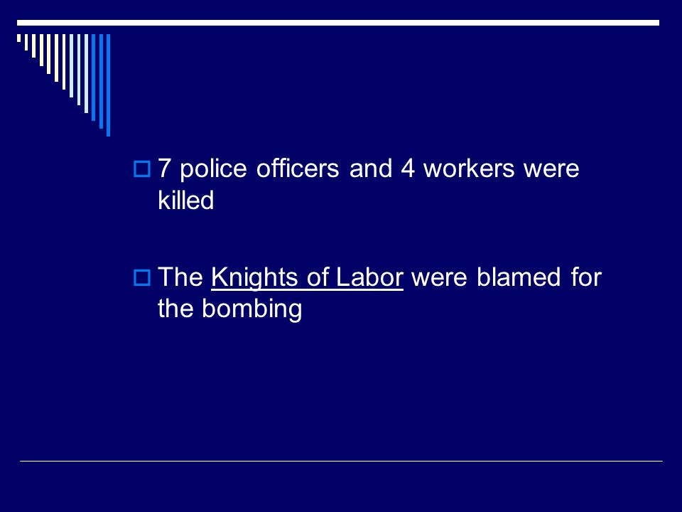 7 police officers and 4 workers were killed