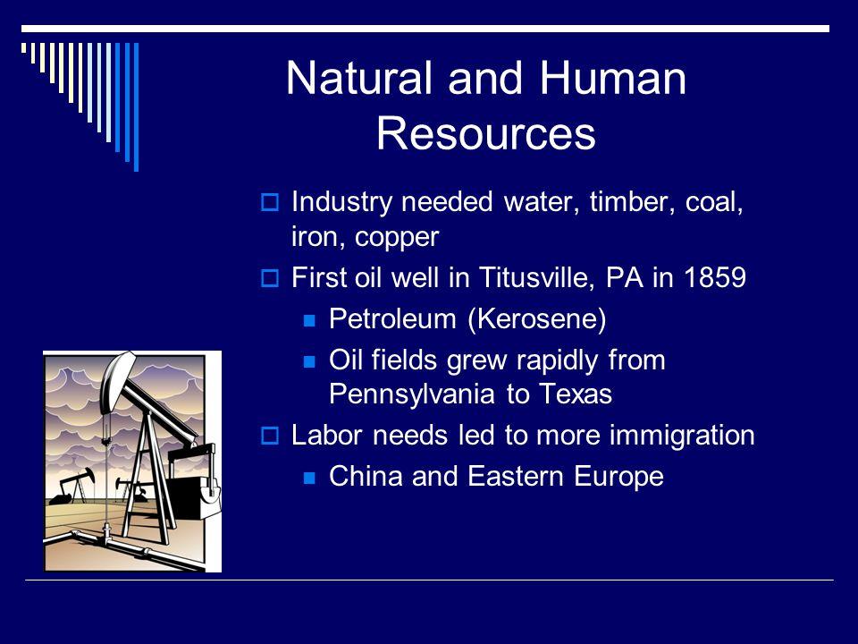 Natural and Human Resources