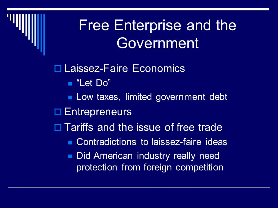 Free Enterprise and the Government