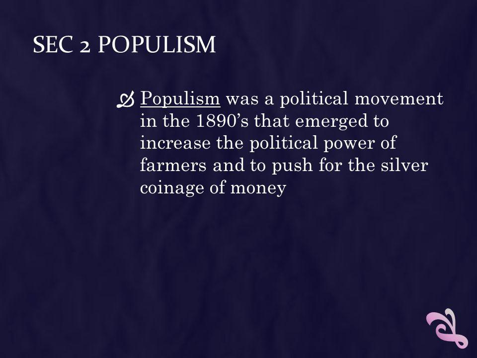 Sec 2 Populism