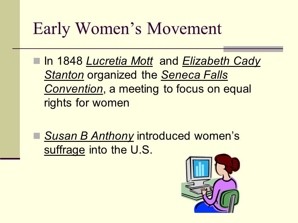 Early Women's Movement