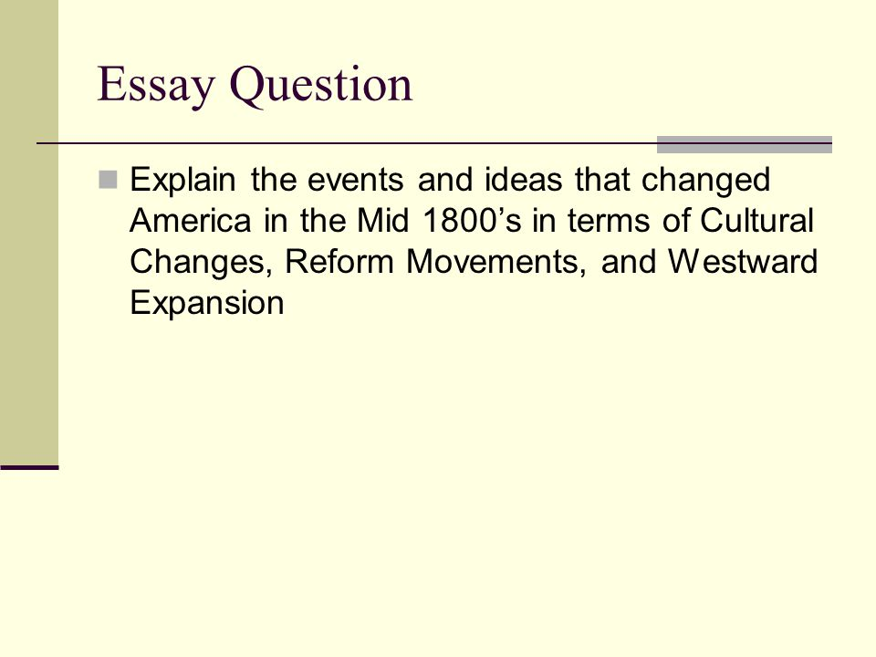 us reform movements essay The history of the xx century shows us an important example of women's rights movement  women's rights movement essay.