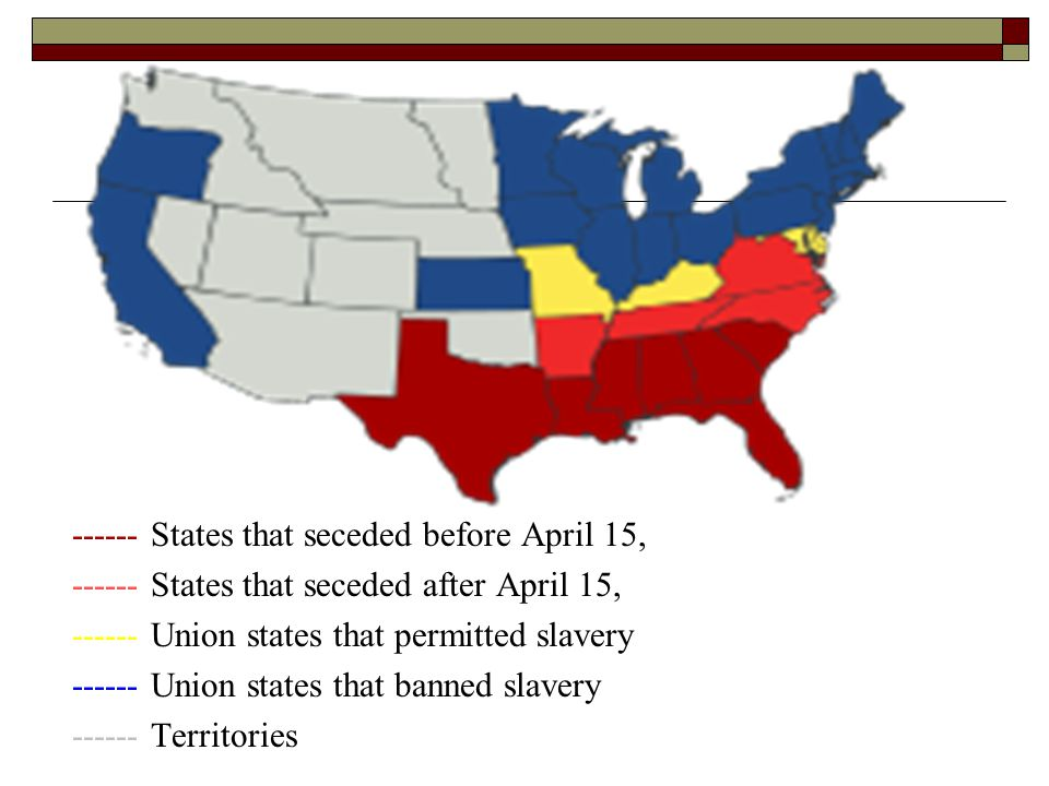 ------ States that seceded before April 15,