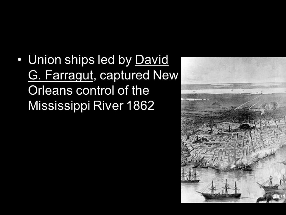 Union ships led by David G