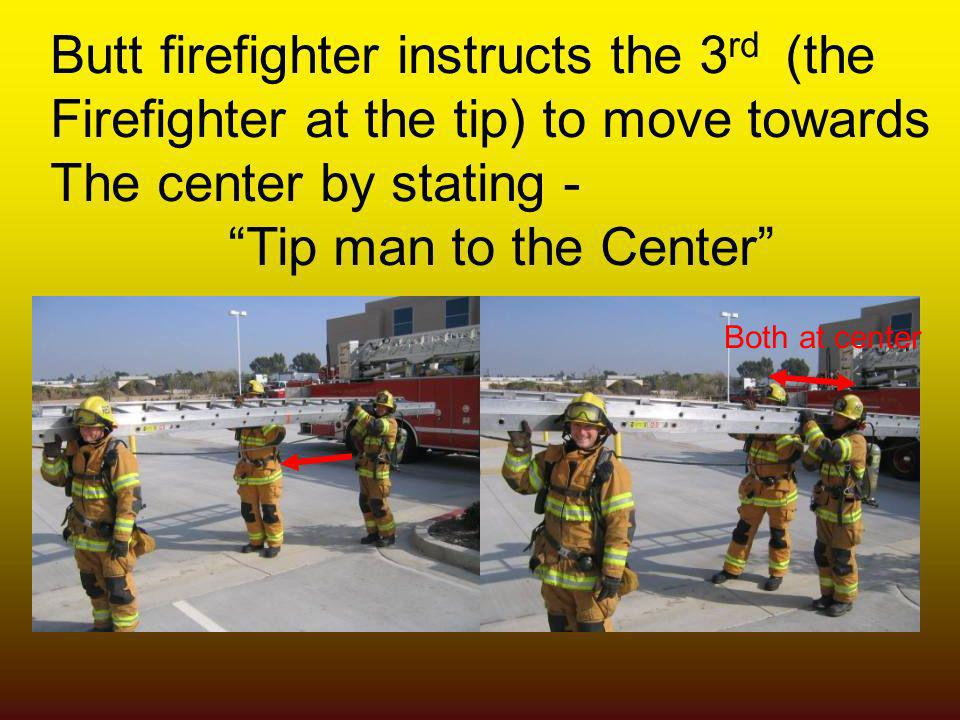 Butt firefighter instructs the 3rd (the