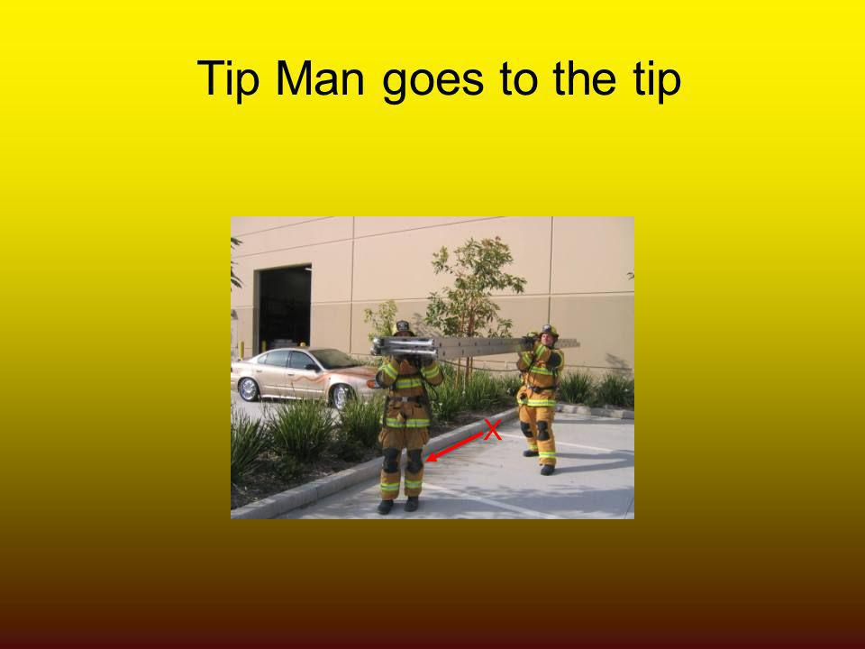 Tip Man goes to the tip X