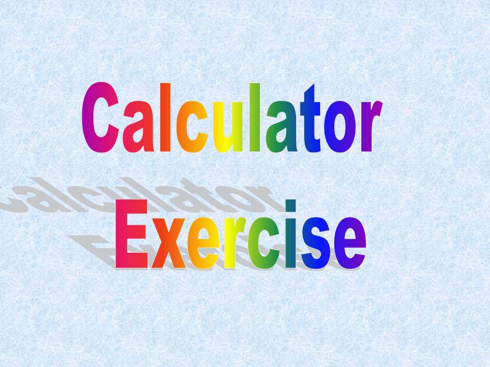 Calculator Exercise