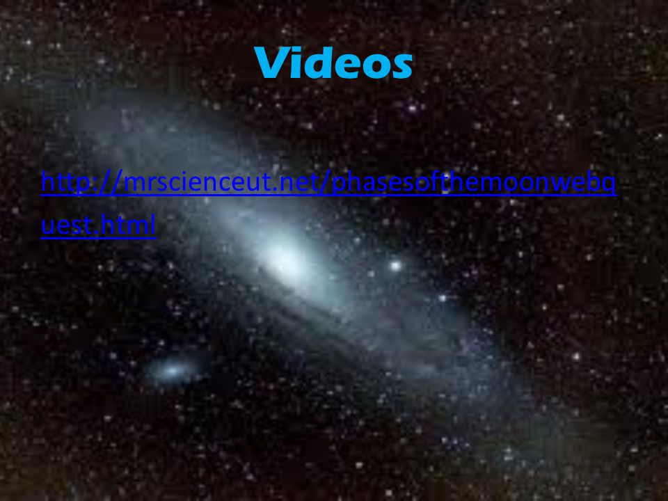 Videos http://mrscienceut.net/phasesofthemoonwebq uest.html