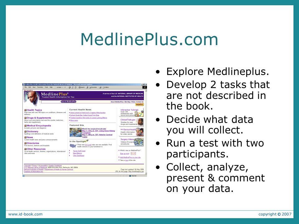 MedlinePlus.com Explore Medlineplus.