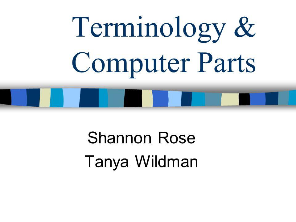 Terminology & Computer Parts