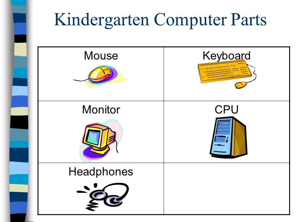 Kindergarten Computer Parts