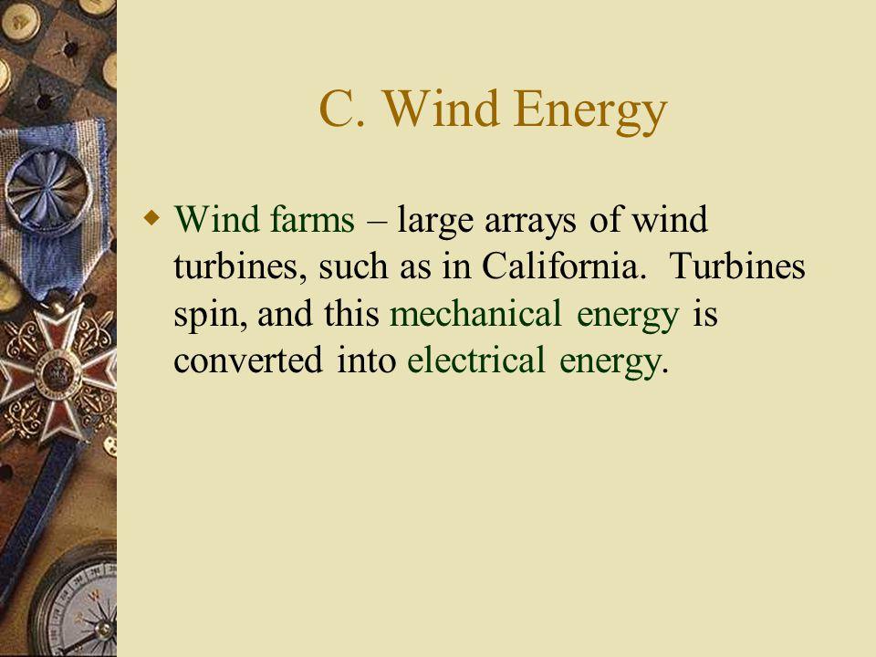 C. Wind Energy