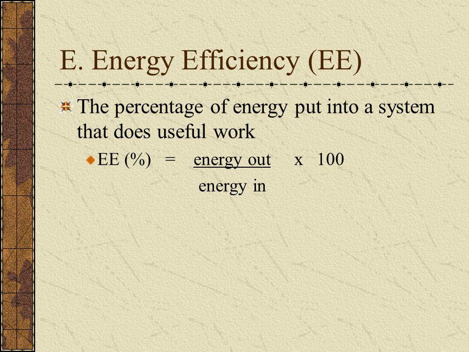 E. Energy Efficiency (EE)