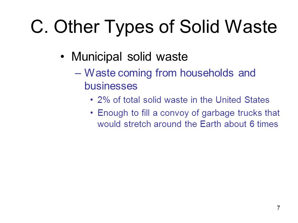 C. Other Types of Solid Waste
