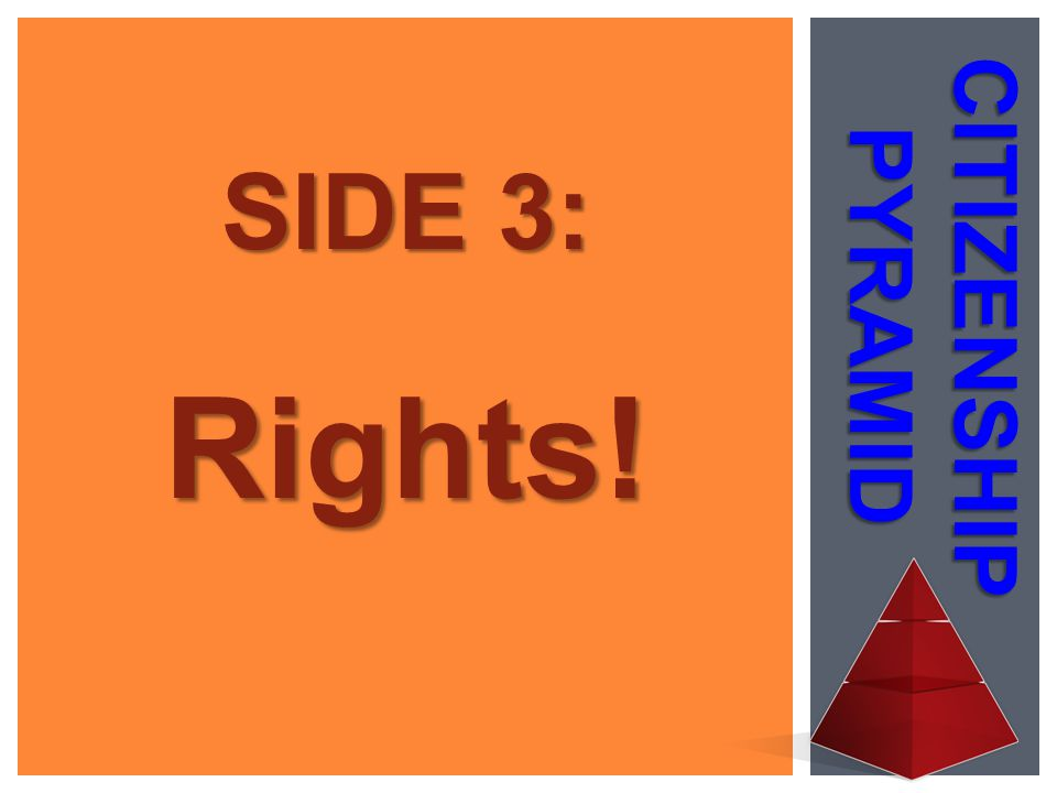 SIDE 3: Rights! CITIZENSHIP PYRAMID