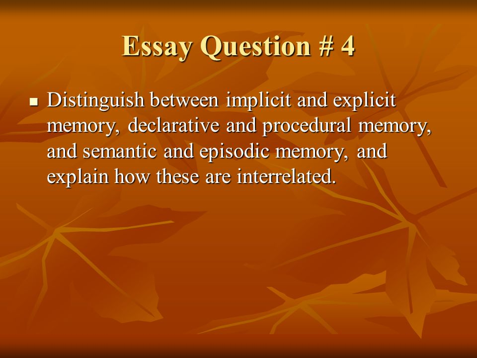 Essay Question # 4