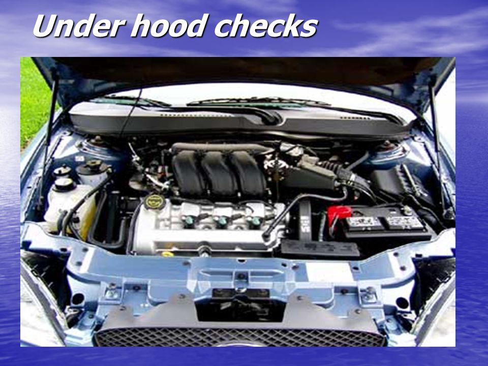 Under hood checks