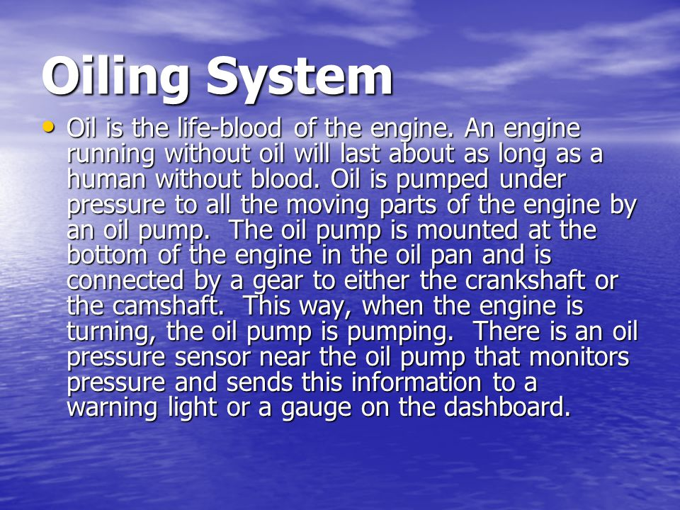 Oiling System