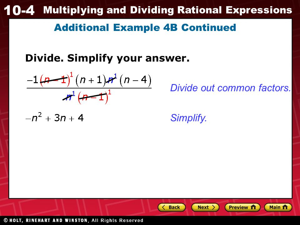 Additional Example 4B Continued