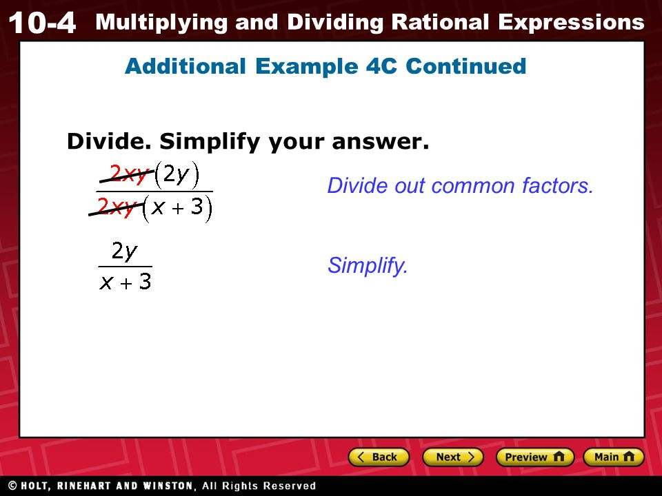 Additional Example 4C Continued