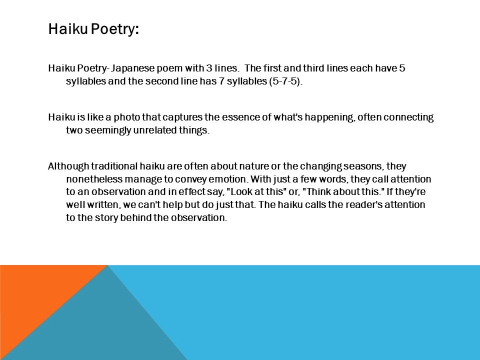 Haiku Poetry: