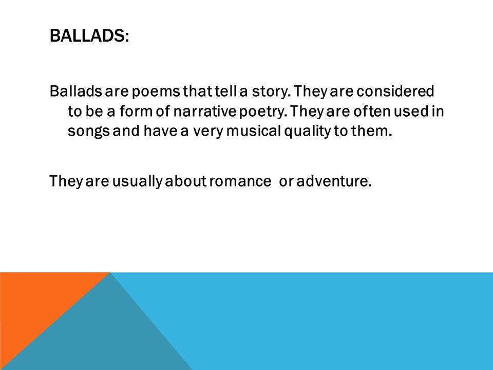 Ballads: