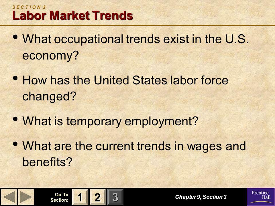 S E C T I O N 3 Labor Market Trends