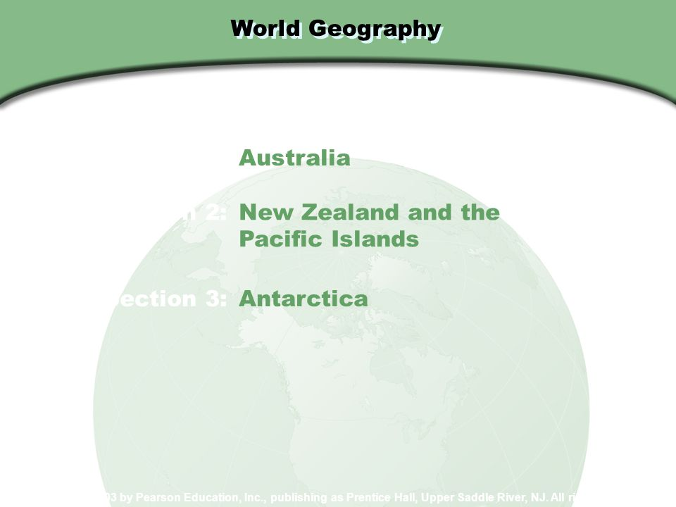 Chapter 34: The Pacific World and Antarctica