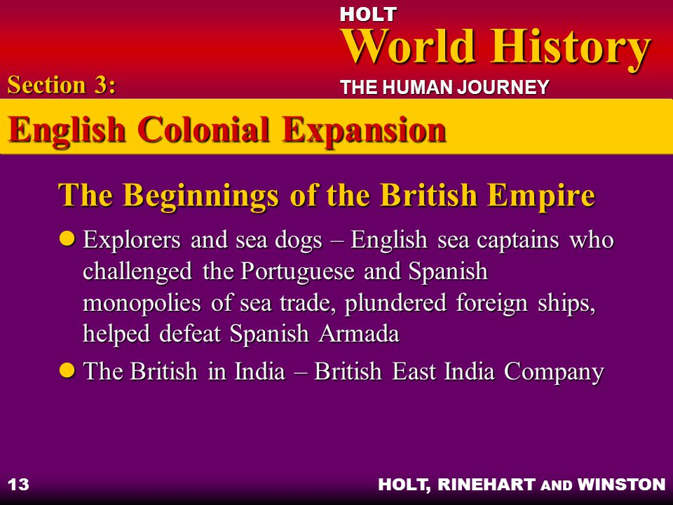 The Beginnings of the British Empire