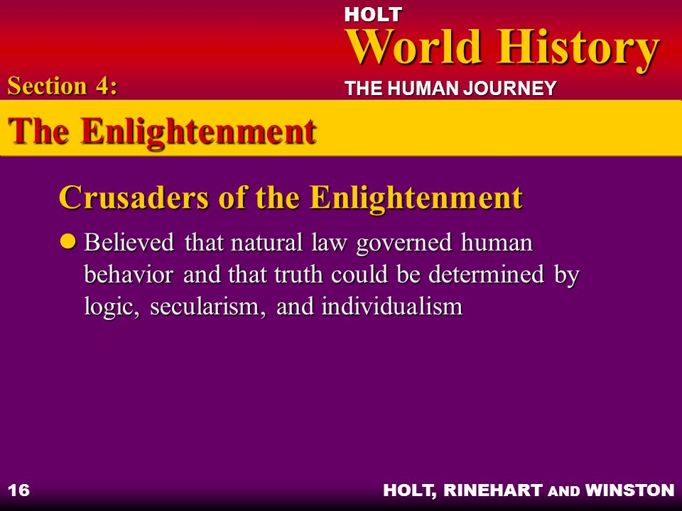 Crusaders of the Enlightenment