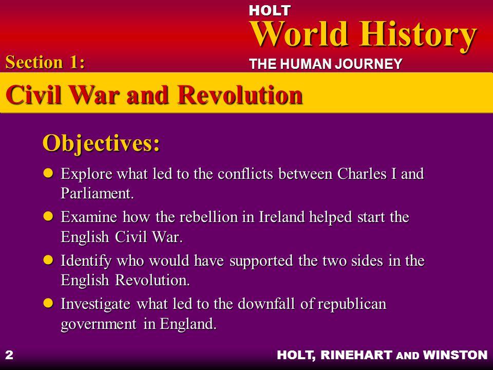 Civil War and Revolution